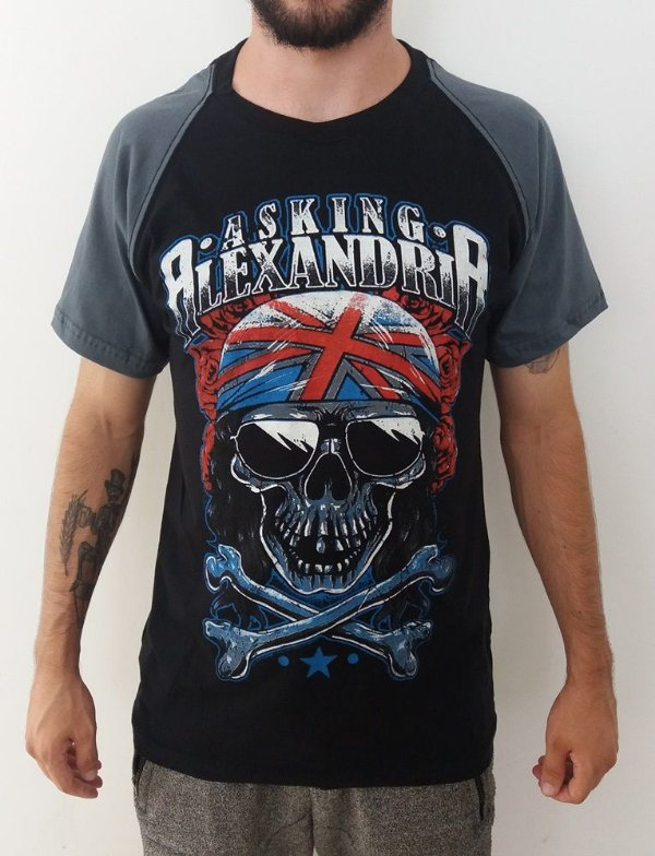 Camiseta Asking Alexandria - Raglan