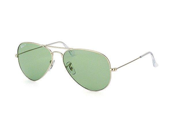 Óculos de sol Ray-Ban polarizado aviador médio RB3025 019/O5