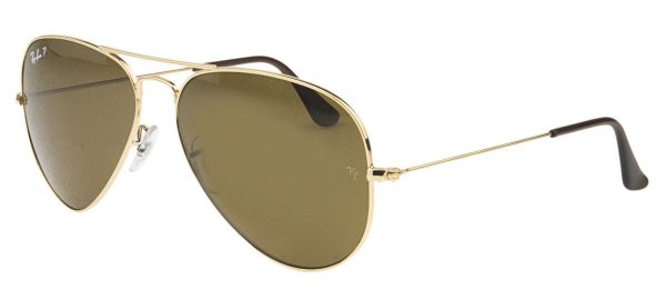 Óculos de sol Ray-Ban polarizado aviador grande RB3025 001/57