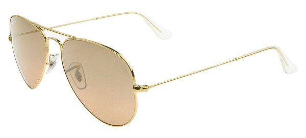 Óculos de sol Ray-Ban aviador médio RB3025 001/3E