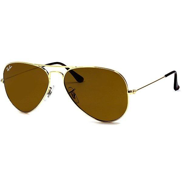 Óculos de sol Ray-Ban Aviador RB3025 001/33 58 Médio