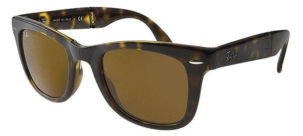 Óculos de sol Ray-Ban Wayfarer Folding RB4105 710 Grande