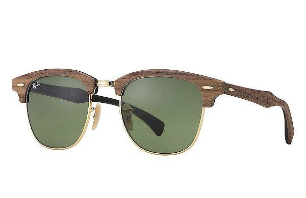 Óculos de sol Ray-Ban Clubmaster Wood RB3016M 11824E