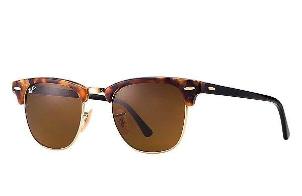 Óculos de sol Ray-Ban Clubmaster Fleck RB3016 1160 51