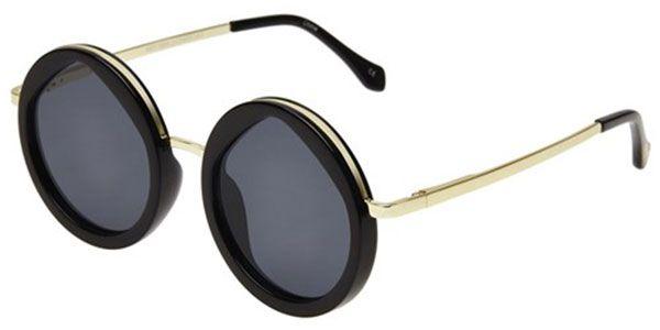 Le Specs Hey Yeh Preto e Dourado Lente Cinza LSP1602165