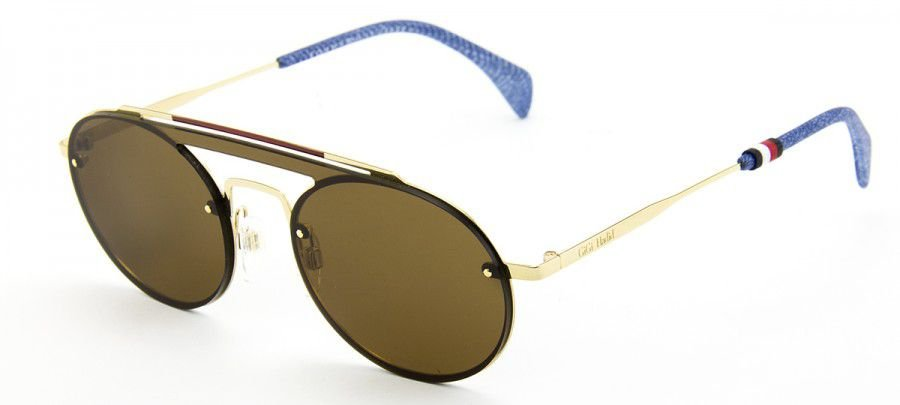 Óculos de Sol Tommy Hilfiger TH Gigi Hadid3 J5G/9970 - Dourado/Marrom