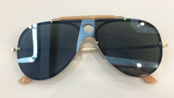Óculos de Sol Ruby 7579-N 001/87 Dourado/G15