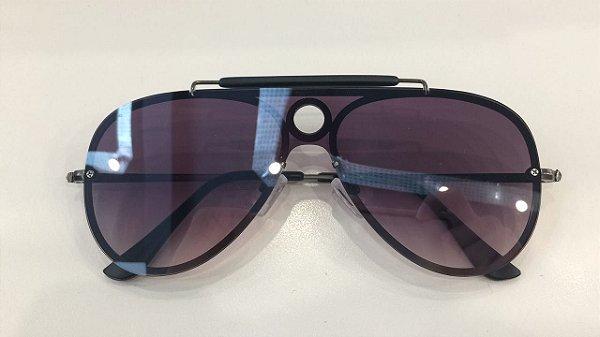 Óculos de Sol Ruby 7579-N 001/87 Grafitte/Lente Roxa