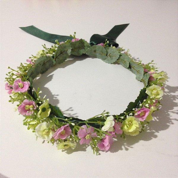 Coroa de Flores delicadas