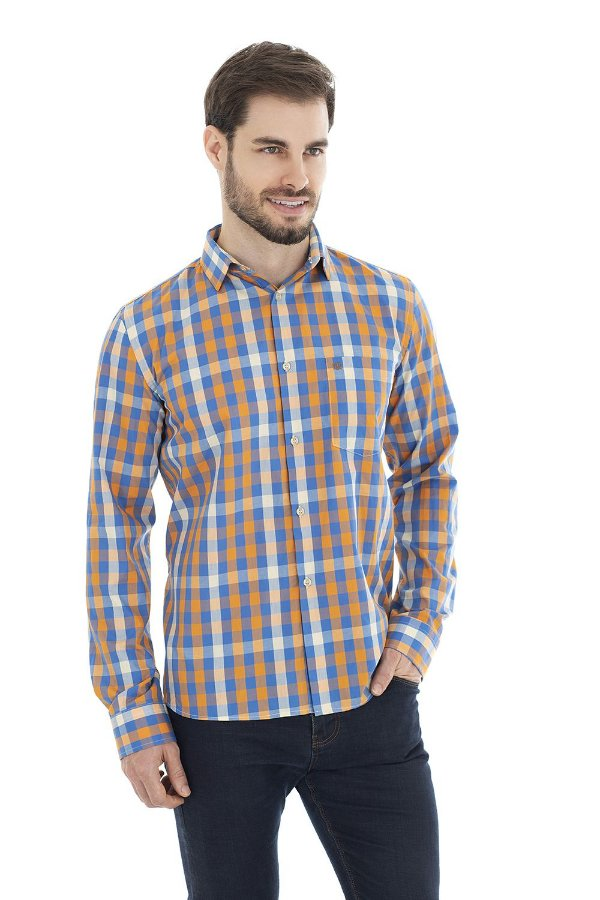 Camisa Casual - Alaranjada