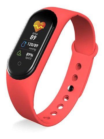 relógio Inteligente M3 Intelligent Health Bracelet Vermelho Relogio Pulseira M3