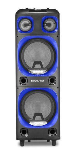 Caixa De Som Bluetooth Torre Double 2000w Bt/aux/sdm MULTILASER