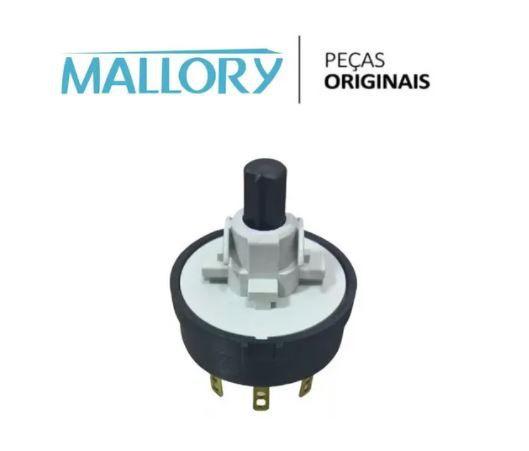Chave Interruptor P/ Ventilador Silence Turbo Mallory