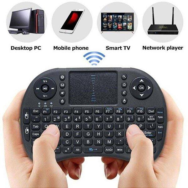 Mini Teclado Wireless Keyboard Mouse Smart Tv