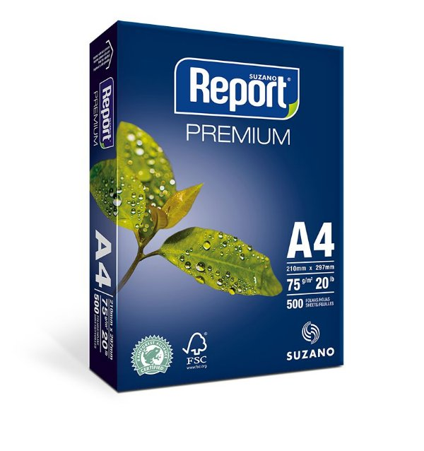 Resma Papel Sulfite A4 Branco Report Premium = 500 Folhas