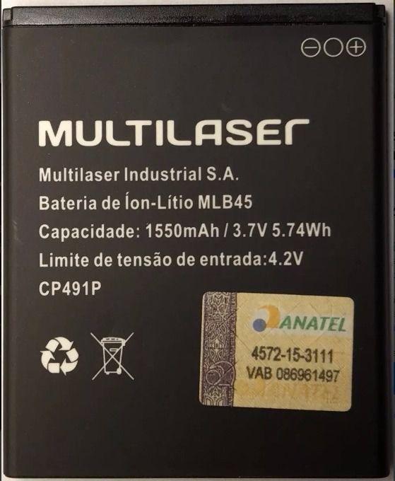 Bateria Multilaser Mlb45 1550mah 100% Original