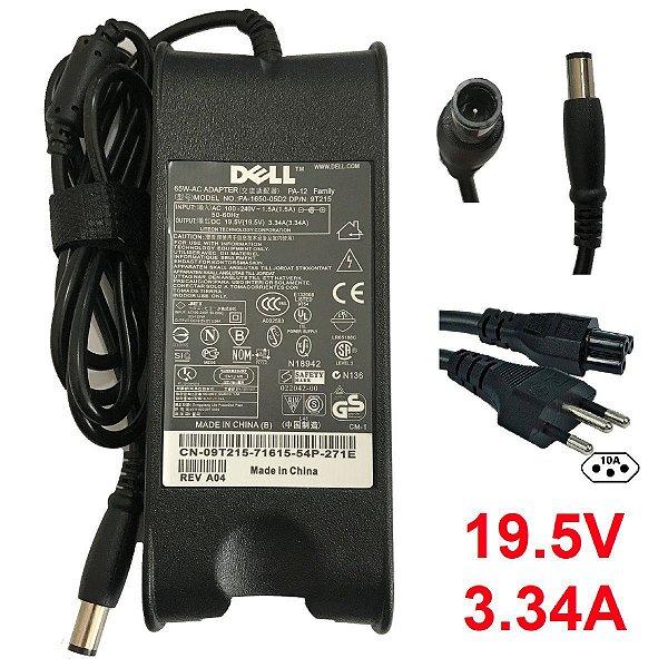 Fonte Notebook Dell 19.5v 3.34a,65w Novo Original