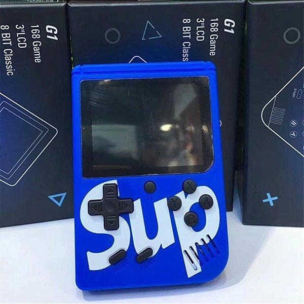 Mini Game Retro C/ 400 Jogos Classicos , Boy Tela 3 Tipo Psp - Azul