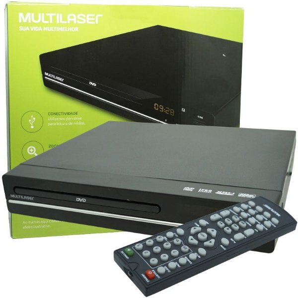 Aparelho Dvd Player Multilaser Rca 2.0 Usb Mp3 Cd Ripping