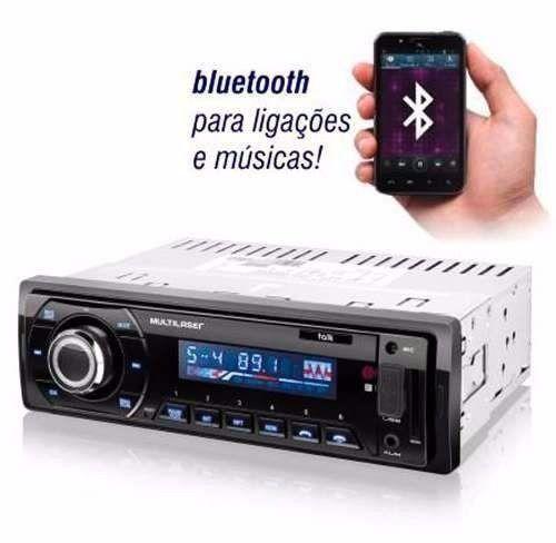 Som Automotivo Multilaser Talk Rádio Fm Bluetooth Entradas Usb Sd E Auxiliar P3214