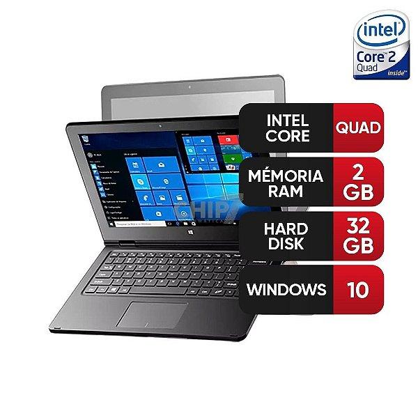 """Notebook 2 em 1 Multilaser M11W Intel Atom 2GB 32GB Tela 11,6"""" Windows 10 - Cinza"""