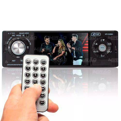 Som Automotivo Central Multimídia Mp5 Universal 4 Bluetooth Fm Usb Controle - Kp-c25bh