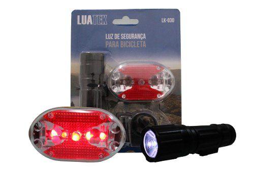 Luz De Segurança Bicicleta - Luatek Lk-030