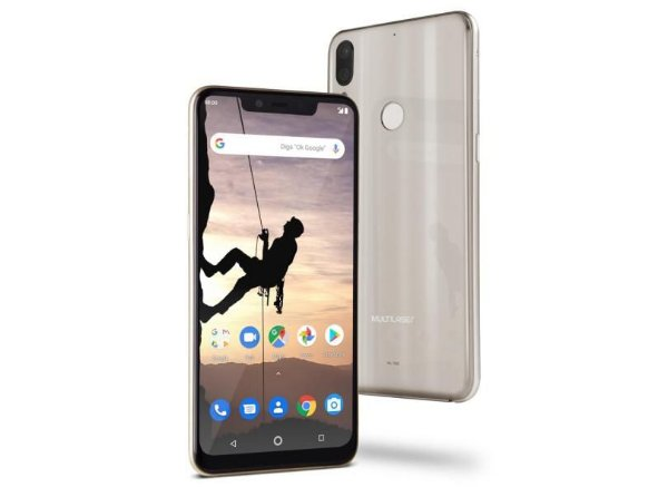 "Smartphone Multilaser MS80X 4G Android 8.1 Qualcomm 4GB RAM e 64GB Tela 6,2""HD Câm Traseira 12MP+5MP Cam Frontal 16MP"