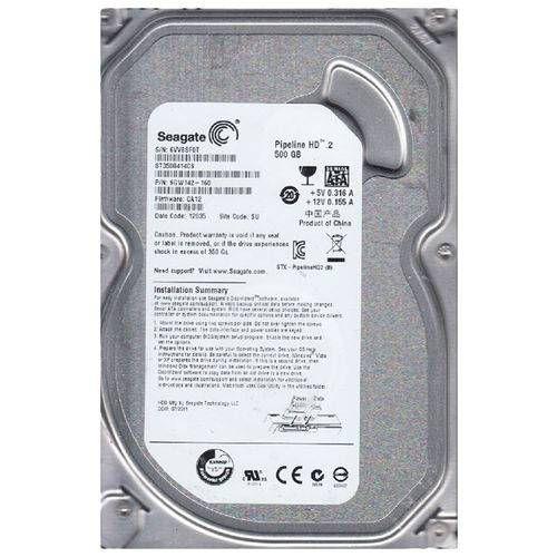 Hd Interno Desktop Seagate Pipeline 2 500GB 5900RPM Sata Ii 3.0Gbs/S ST3500312CS