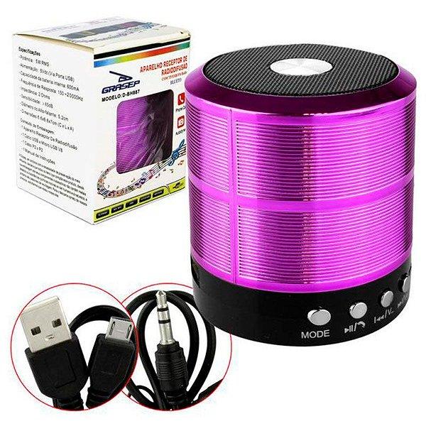 Mini Caixa De Som Portatil Speaker Ws-887 - Roxo