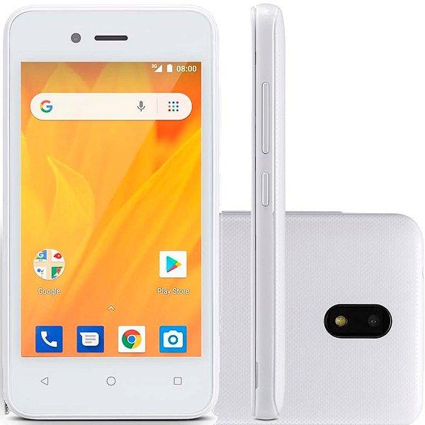 Smartphone MS40G 3G Tela 4 pol. 8GB Android 8.1 Dual Câmera 5MP+2MP Branco Multilaser - P9070