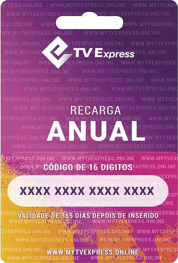 Recarga Tv Express - Anual