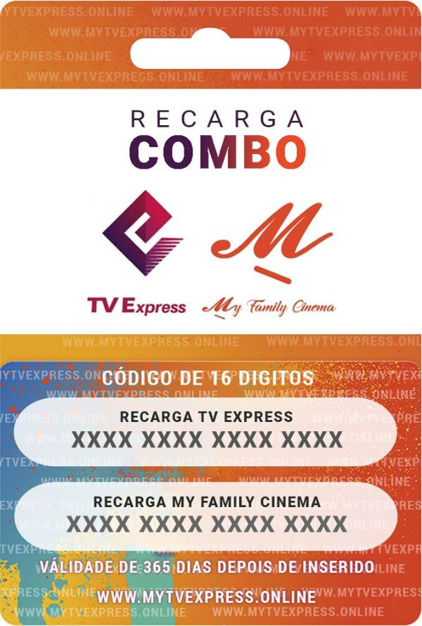 Recarga My Family Cinema + Express [365 Dias] - Oficial
