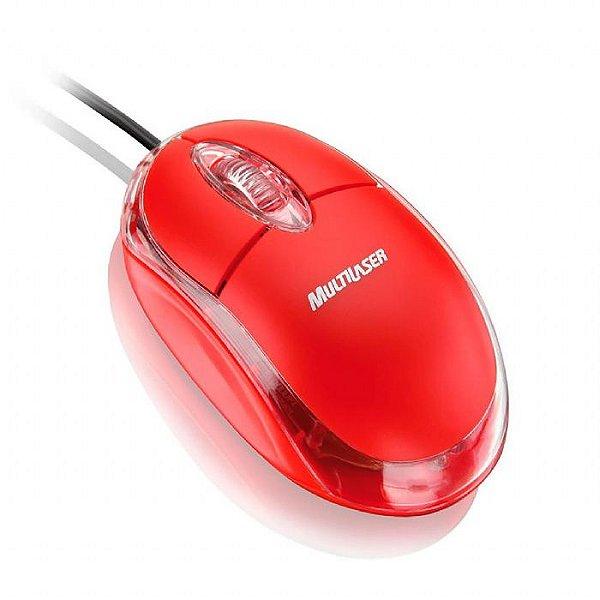 Mouse óptico usb Canadá VERMELHO
