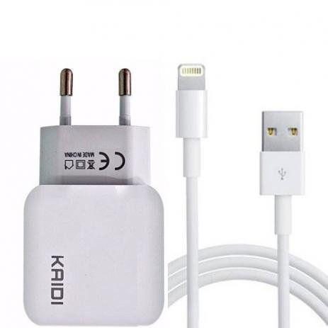 Carregador Fonte Turbo USB Alta Velocidade Cabo Iphone Ipad