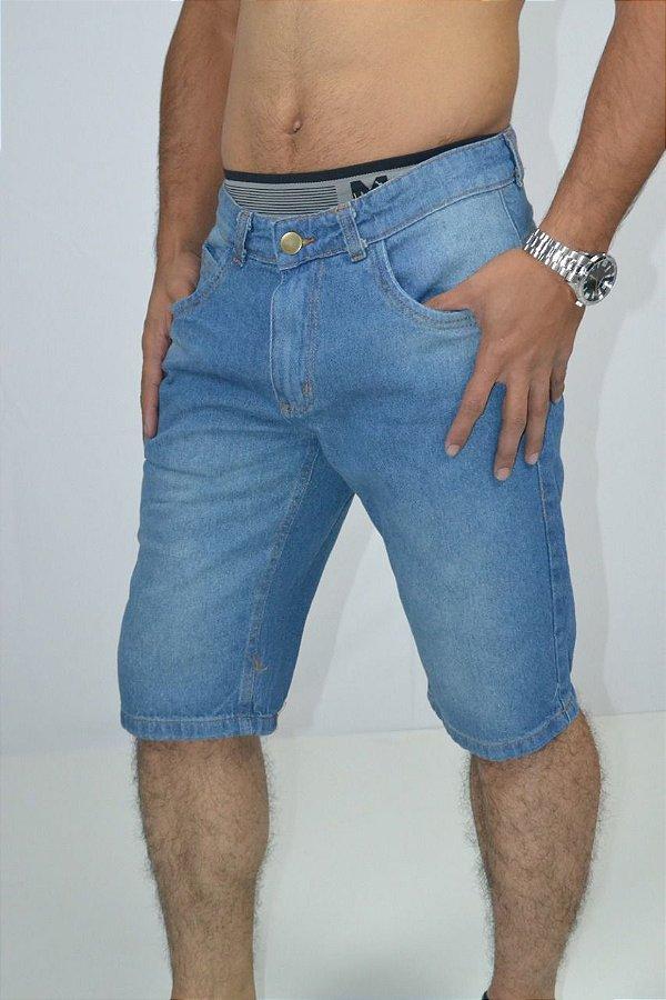 bermuda jeans masculina basica tradicional