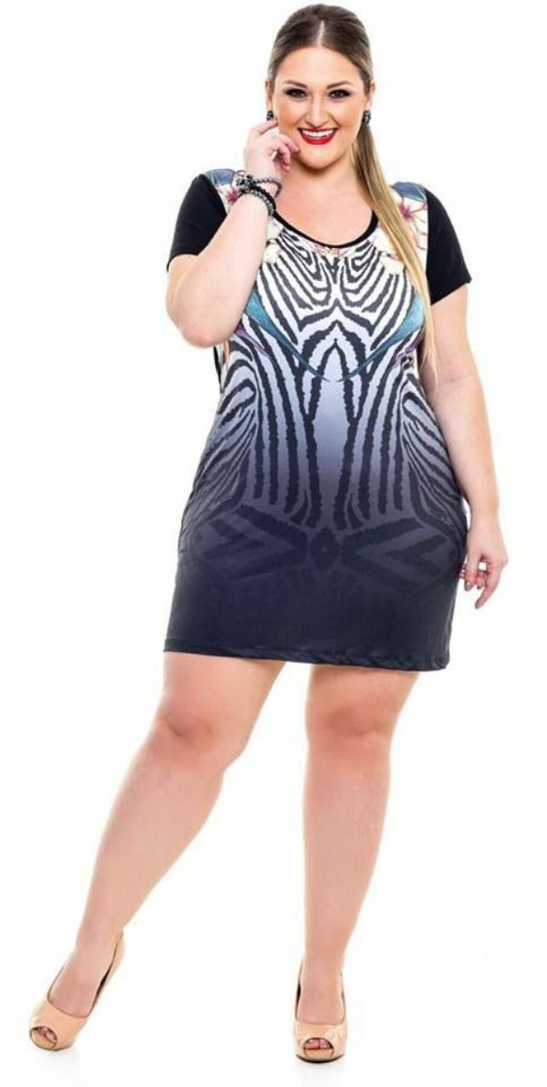 VESTIDO PLUS SIZE ESTAMPA REF 7172