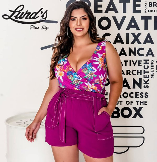 SHORTS PLUS SIZE PINK REF 810038