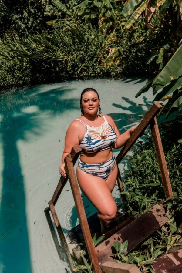 BIQUÍNI PLUS SIZE ESTAMPA OFF WHITE REF 19149