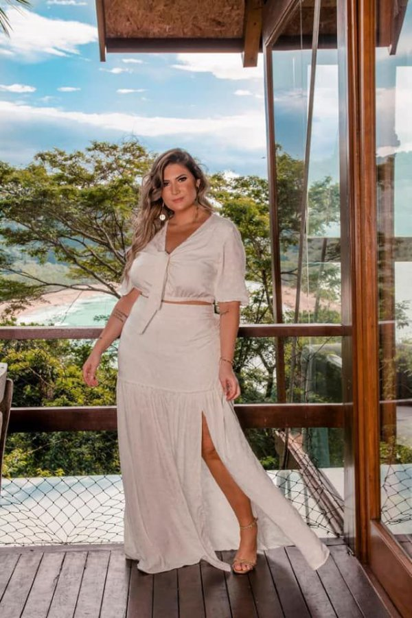 SAIA PLUS SIZE OFF WHITE LONGA REF 820042