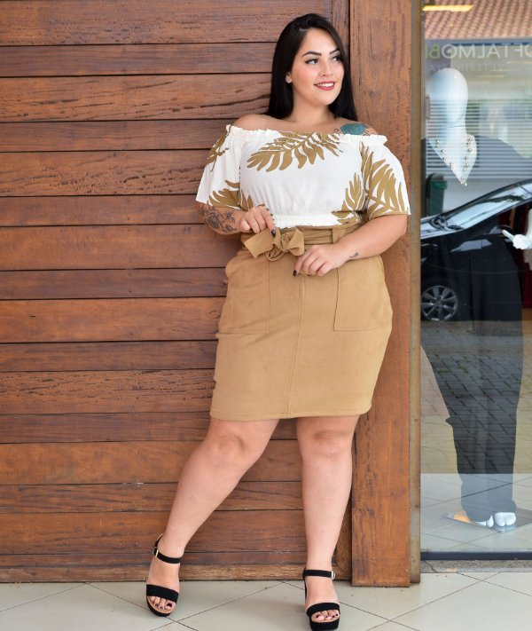CROPPED PLUS SIZE OFF WHITE OMBRO A OMBRO REF 720058
