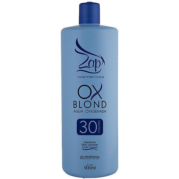Ox Blond 30 Volumes Água Oxigenada Zap Cosméticos 900ml