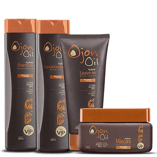 Kit Ojon Manutenção Vip Cosméticos ( Shampoo + Condicionador + Máscara + Leave-in)