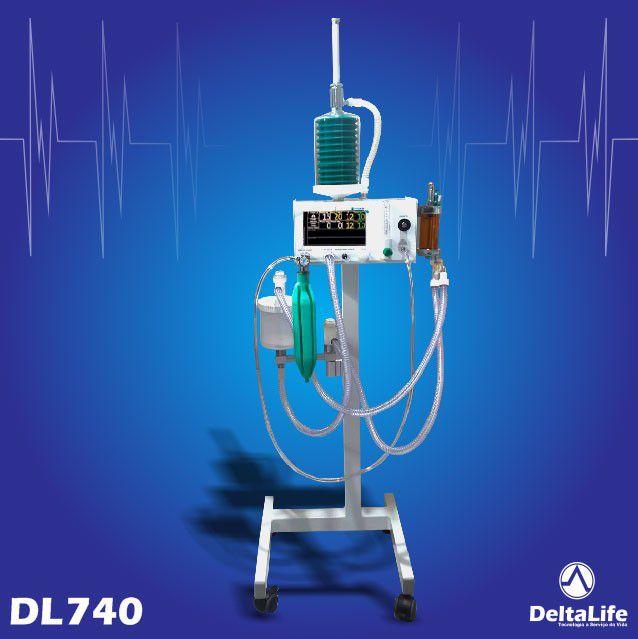 DL740 - Aparelho de anestesia inalatória com ventilação - DeltaLife