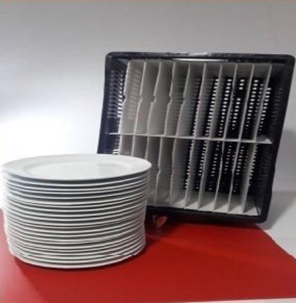 Caixa com Divisória para Pratos Rasos Alt 29 cm (22 pratos)