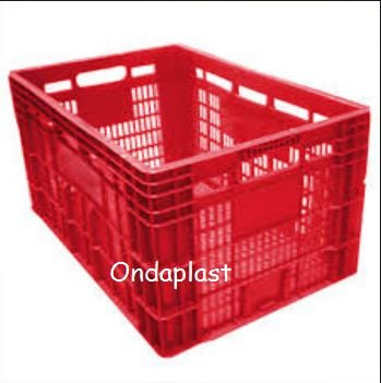 Caixa plástica Vazada Alta : C 60 L 40 A 31 cm