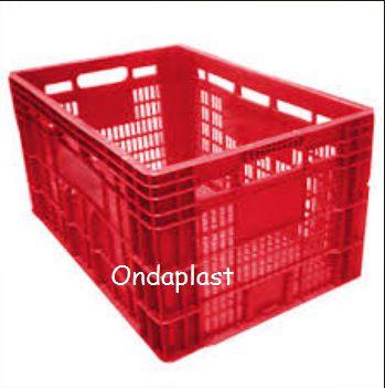 Caixa Plastica Vazada - Baixa- Média - Alta - Comp  60 cm Larg 40 cm