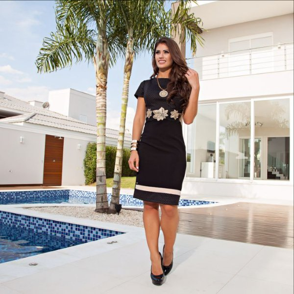 Vestido Renata - Tamanho 38 - Moda Evangélica Executiva