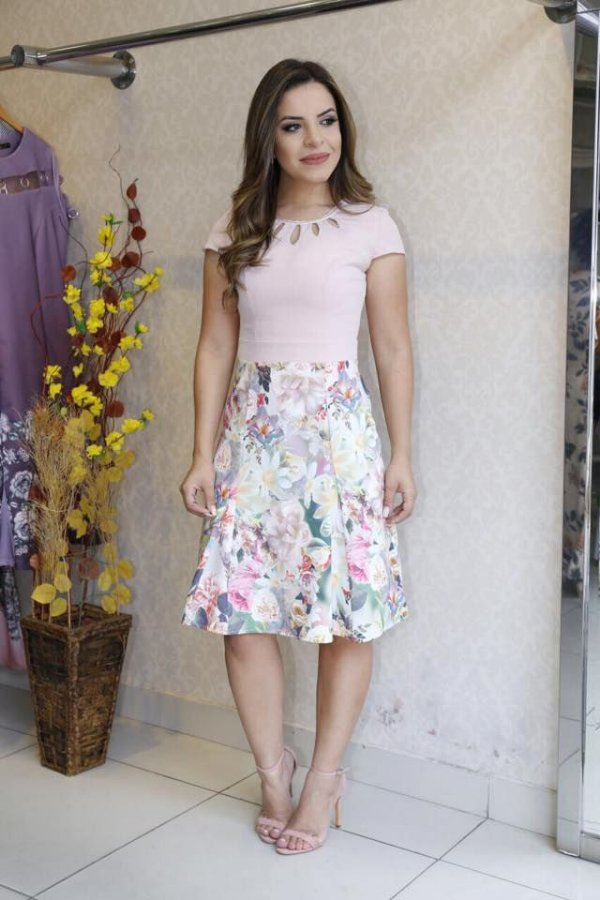 Vestido Gislaine - Moda Evangélica Executiva
