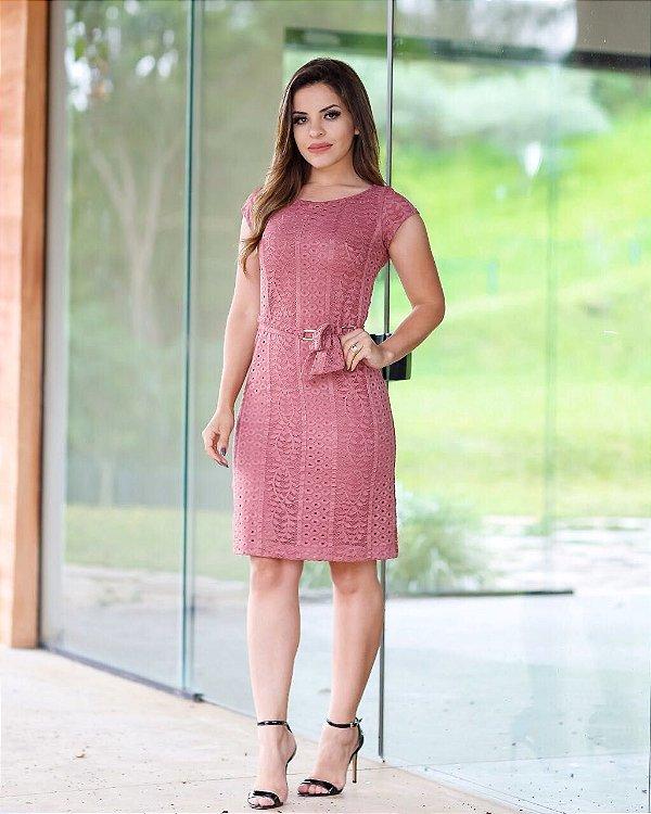 Vestido Beatriz Rose - Moda Evangélica Executiva